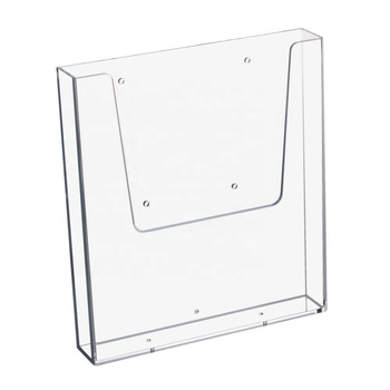 Clear perspex A4 Magazines holder desk a4 acrylic brochure holder