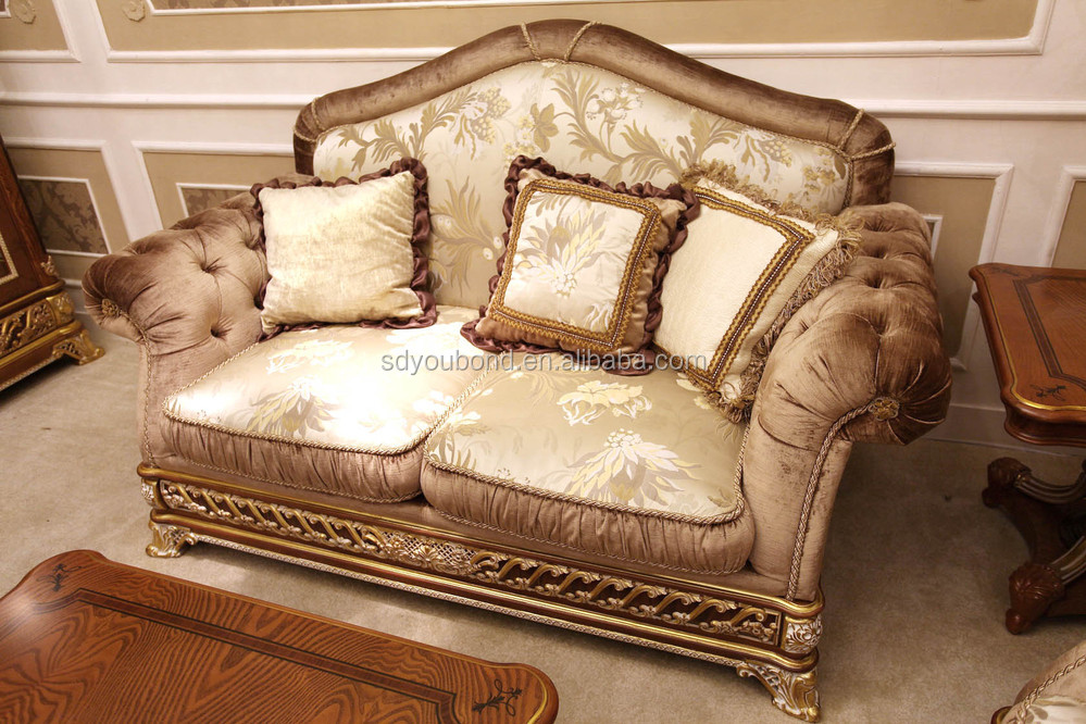 0062 Italy design Royal neo-classic living room furniture wooden ...