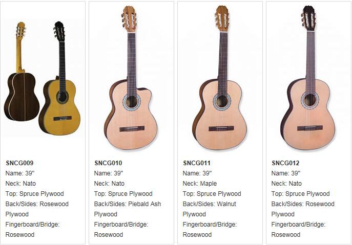 sncg006 classical guitar 39 39 39 at best price buy classical guitar replica guitar cheap china. Black Bedroom Furniture Sets. Home Design Ideas