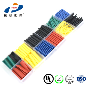 Halogen free UV heat shrink insulation tube adhesive heat shrinkable sleeving with glue for new energy industry appliance