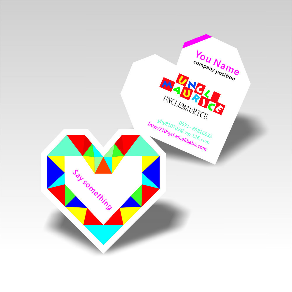 Buy Nicest Designer Colorful Die Cut To Heart-Shaped Business Card ...