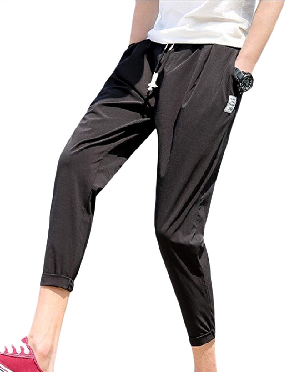 XiaoTianXin-men clothes XTX Men Thin Cozy Summer Athletic Quick Dry Slim-Tapered Casual Pants