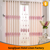 Pink color jacquard embroidery window curtain