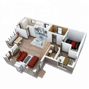 Prefabricated wooden bungalow house prefab log ready made wooden house india price made in china