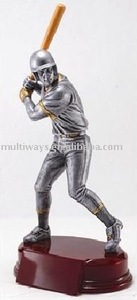 metallic look baseball plastic figure(MW-PT451)