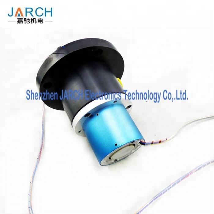 10 Circiuts Signal 1 Passage Hybrid Fluid Rotary Union Electrical Slip Ring