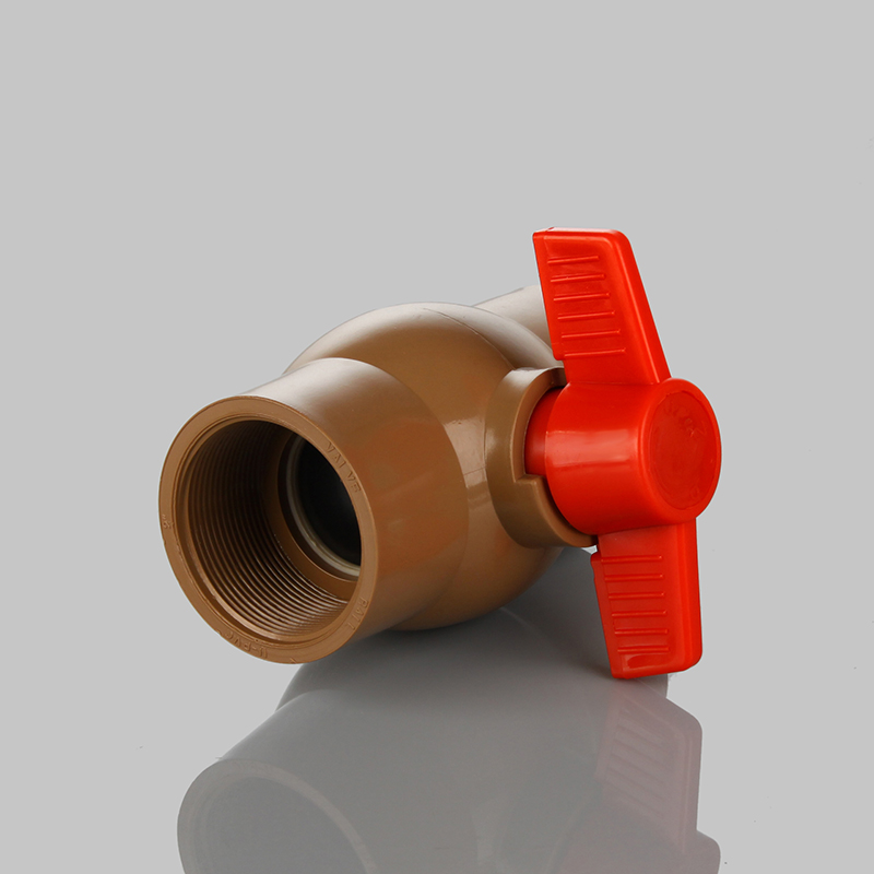 pvc red handle brown body ball <strong>valve</strong> Brazil market hot product for irrigation