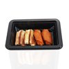 Takeaway disposable black Stackable sealable pp plastic roast chicken blister packaging boxes for food
