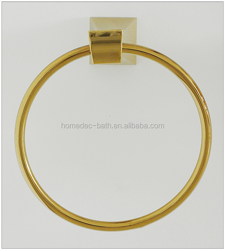 New Modern Design Bathroom Accessories Gold Plated Towel Ring Buy Luxury Towel Ring Gold Color
