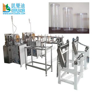 Clear Cylinder Box Forming Machine of Plastic Cylindrical box making