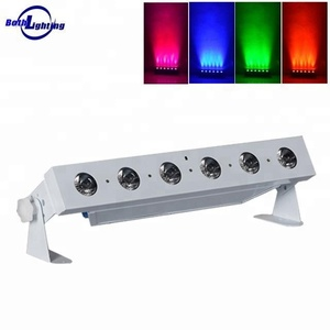 6 x 18W RGBWAUV 6in1 Uplights battery powered dmx bar wireless led bar wall wash