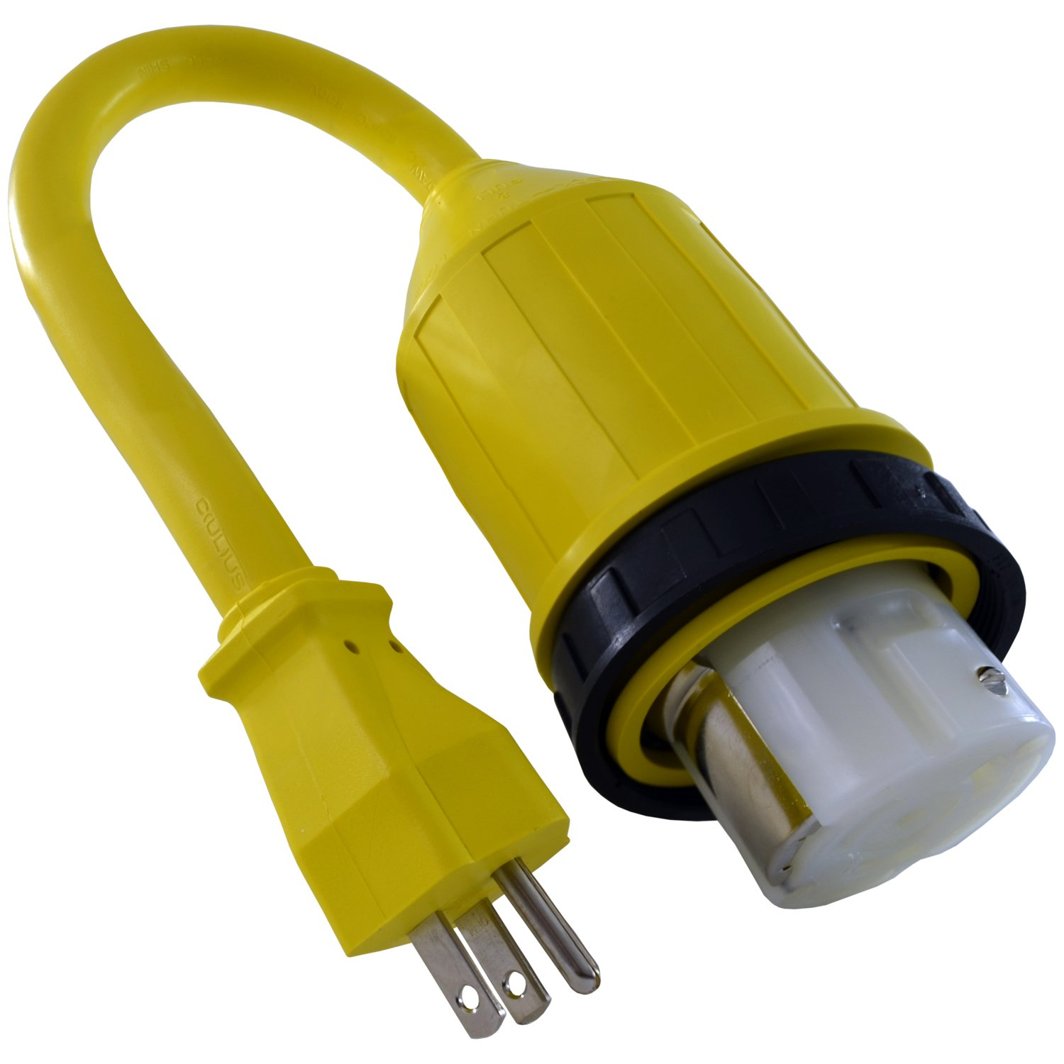 Buy Conntek 14222 Rv 15 Foot Pigtail Adapter Power Cord Amp Male 250 Volt 50 Ac Wiring Plug To