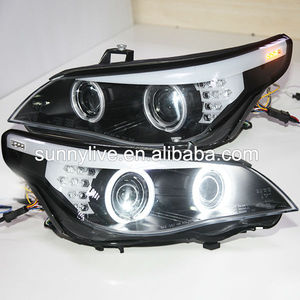 E60 523i 525i 530i Head Light CCFL Angel Eyes 2007-2010 Year For BMW original car with HID kit D1S Xenon Light SN