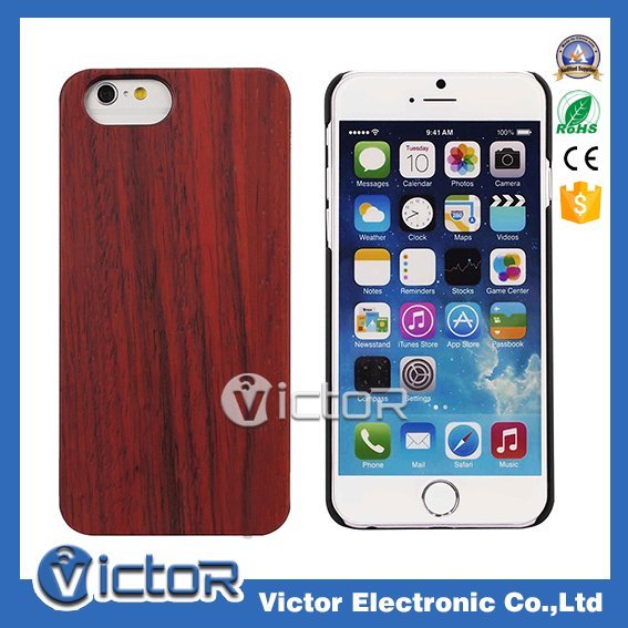 2016 best design 100% real wood phone case , natural wooden cell phone case PC protective back cover for iphone 6s