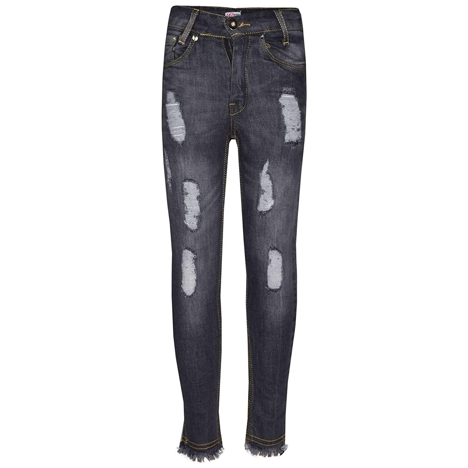 7ce5f70217b04 A2Z 4 Kids® Girls Skinny Jeans Kids Stretchy Denim Ripped Rough Pants  Trousers Jeggings 5
