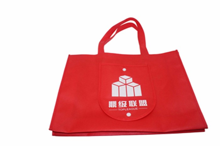 Popular promotional wallet style foldable non woven bag