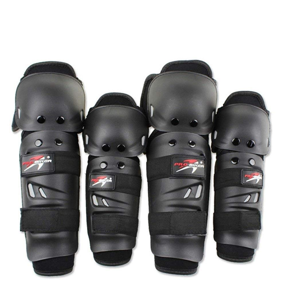Lozom Adults Alloy Steel Motorcycle ATV Motocross Elbow Knee Shin Guard Pads and