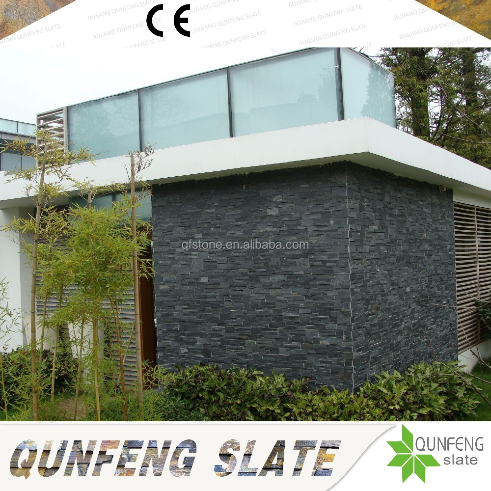 Competitive Price Wall Natural Black Slate Stone Facade Veneer