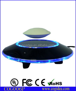 Magnetic floating UFO item , levitating magnet plate display for pop stand