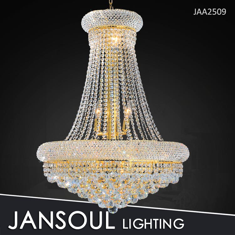 Diameter 600mm gold crystal chandelier luxury for living room