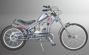 26 inch gasoline engine bicycle 2 stroke 48cc motorized bike