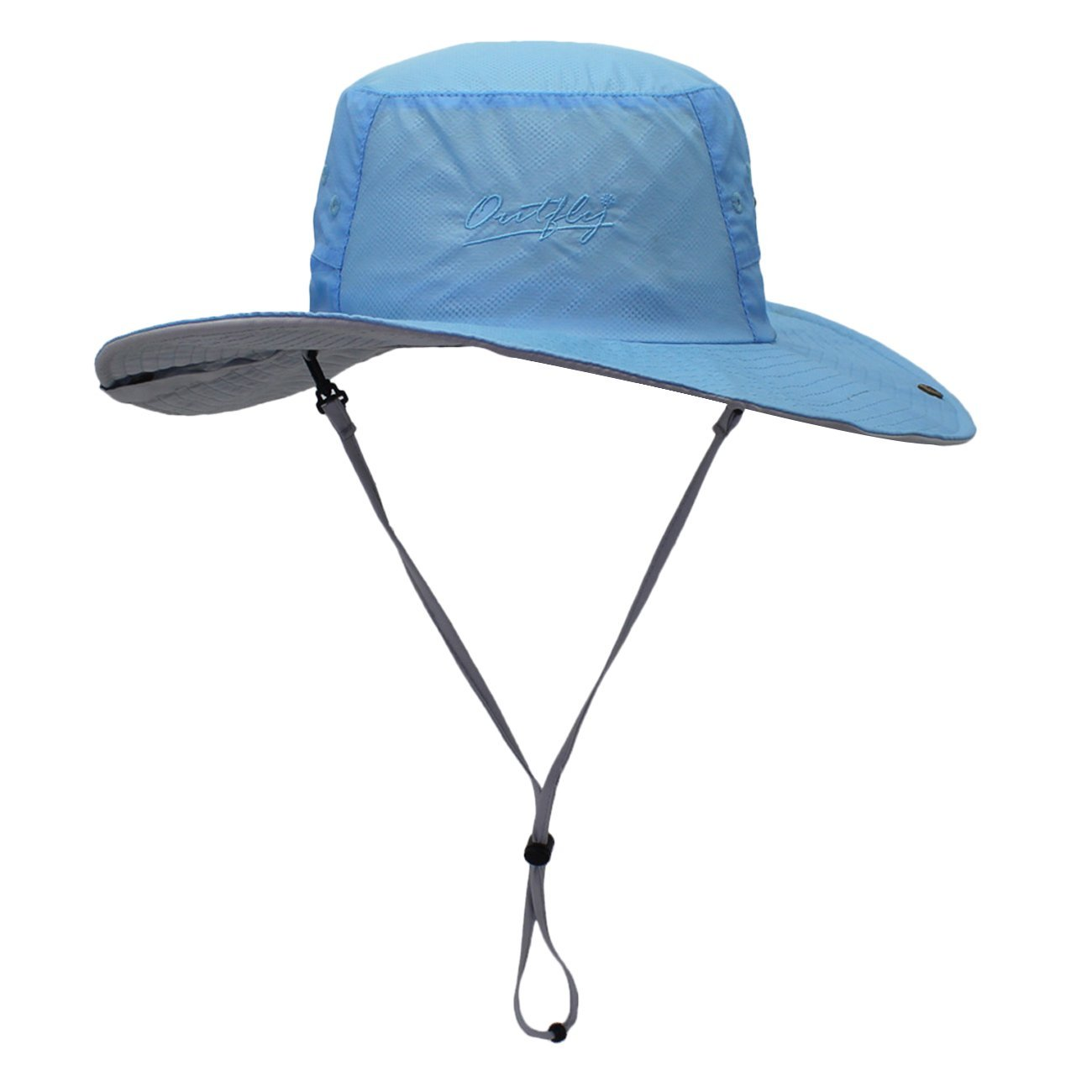 f62a4b8754f49 Get Quotations · Connectyle Mens Wide Brim Fishing Sun Hat Summer Outdoor  Sun Protection Boonie Hat