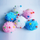 Promotional Colorful Soft Mesh Shower sponges / 50G Mesh Bath Lily