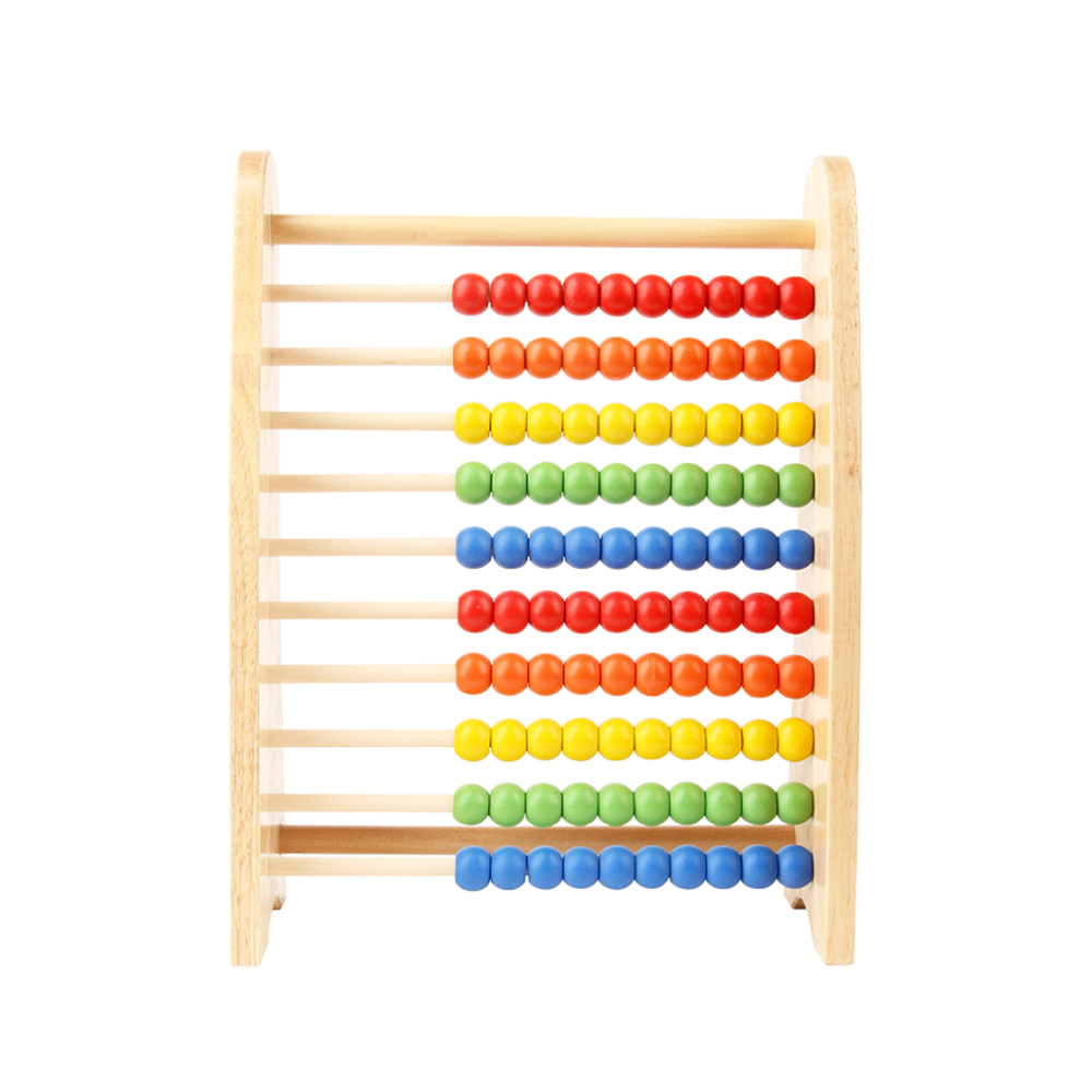 2017 High Quality Montessori Early Education Toys Wooden Abacus Solid Wooden With Hot Selling
