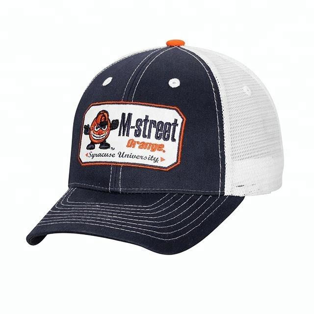 High quality custom designed embroidery logo baseball truck cap  mesh hats  wholesale 5f14d1a009b