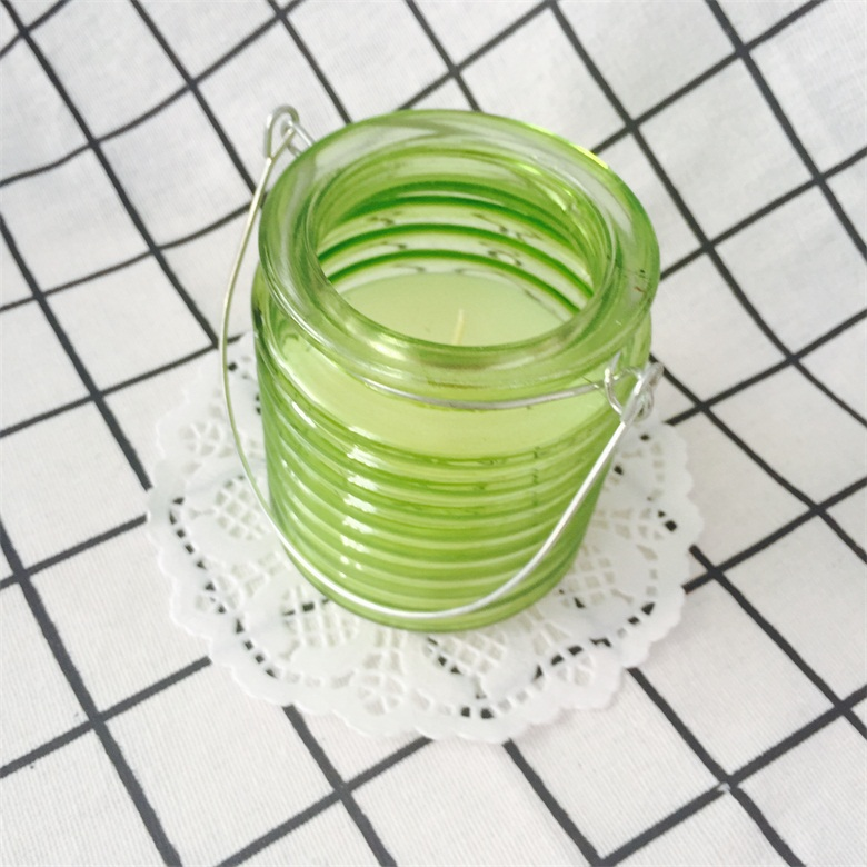 Garden Wedding Decoration Scented Suspension Type Glass Jar Candles