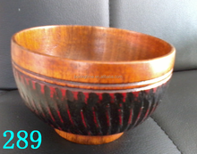 Luxury Antiques Carving Wooden Bowl Bamboo Ramen Bowl