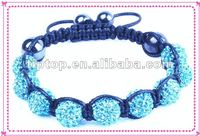 NEWEST PERLE DE SHAMBALLA WITH FIMO BEADS AND BLUE STONES