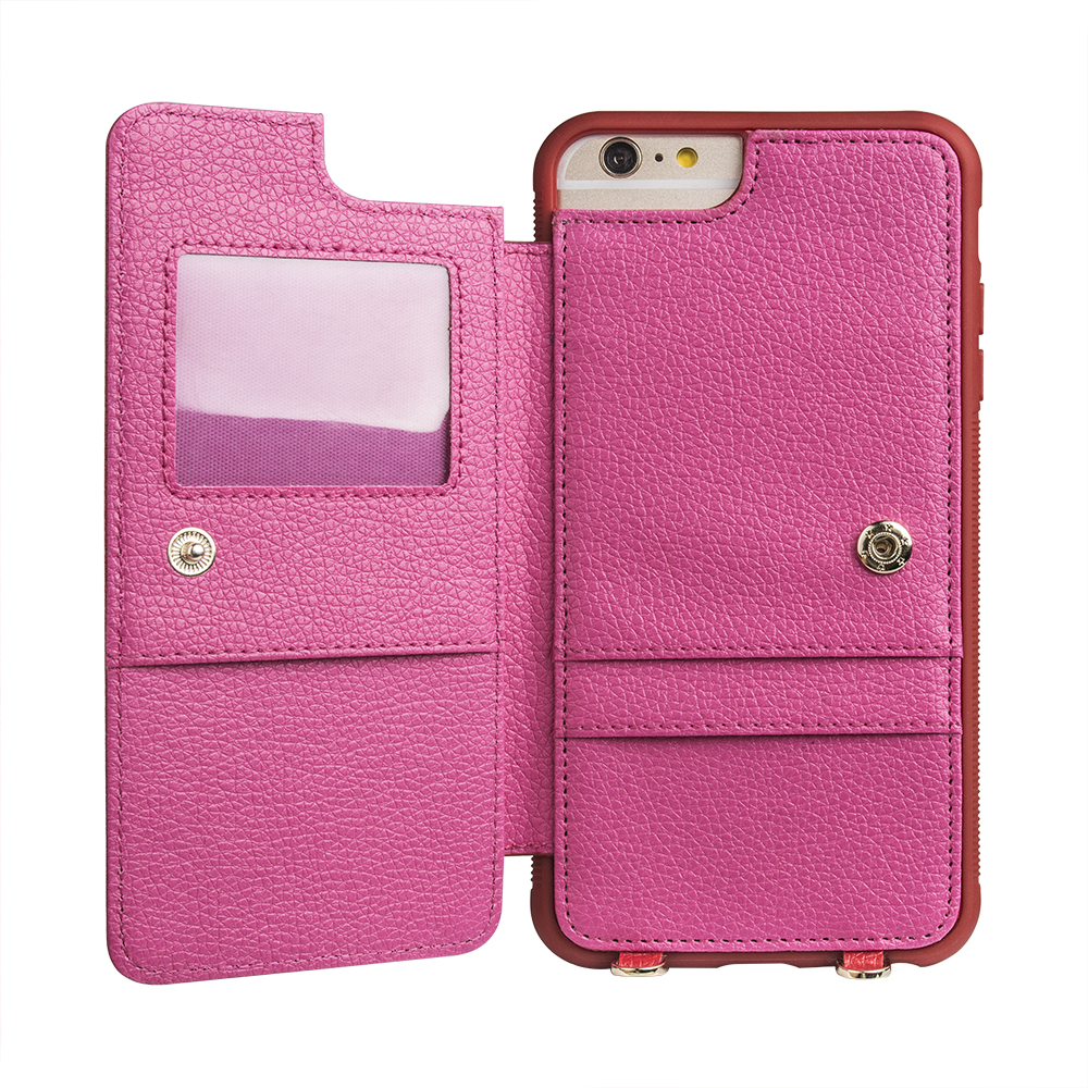 Amazon Best Selling Product Wallet Style Leather Phone Case Women Smart Phone Case with Crossbody Strap for Samsung S9 Plus