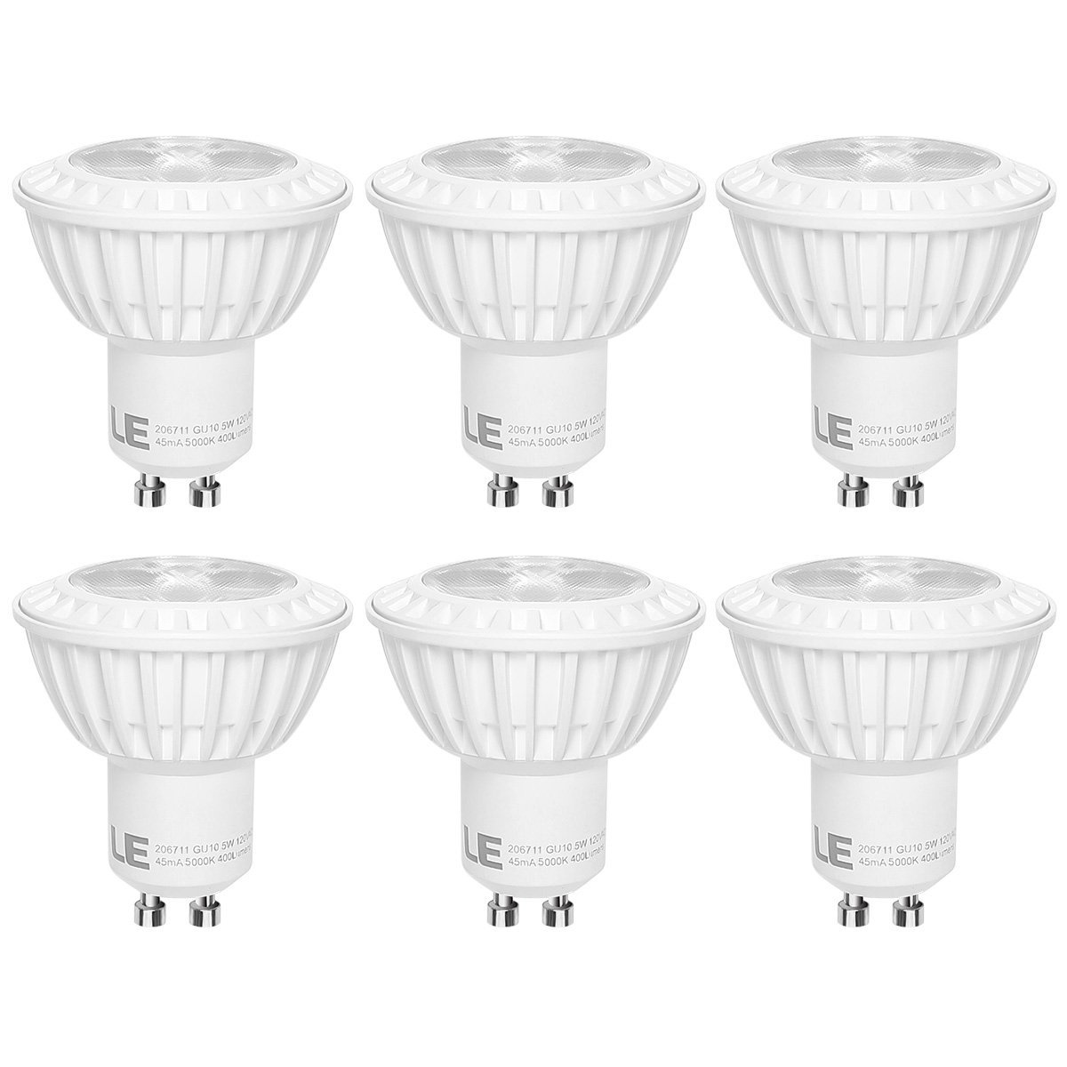 Cheap track lighting led bulbs find track lighting led bulbs deals get quotations le 6 pack gu10 led light bulbs 50w halogen bulbs equivalent 5w mr16 aloadofball Choice Image