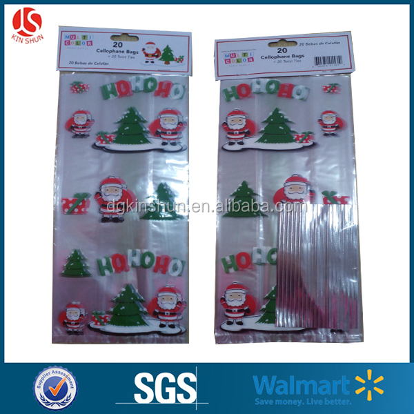 2016 Professional Factory For Popular PE Plastic Christmas Party Cello Bag