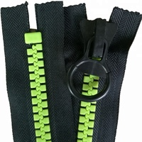 Industry supply oversize zippers big teeth plastic zip for sale