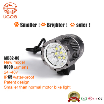 ugoe wew led 8000 lumen motor cycle bike light front light dc12 48v