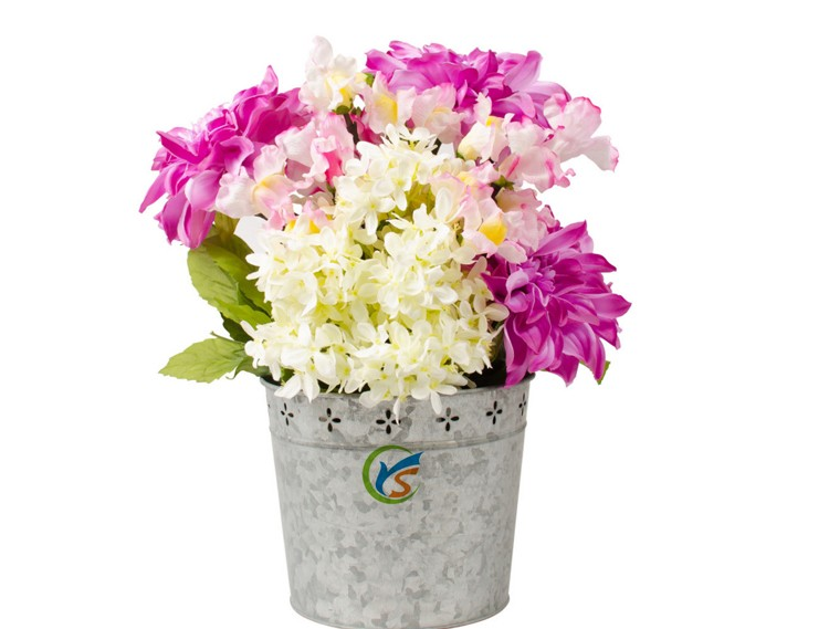 High Quality Traditional Garden Zinc Flower Pot