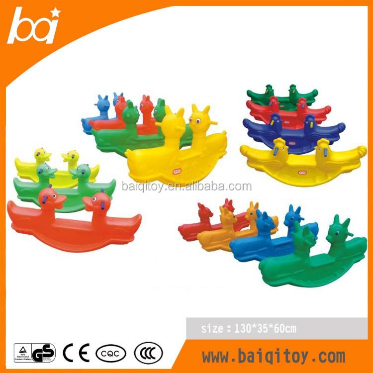 Niños Paseo En Juego Plástico Balancín Para Niños Doble Color ...
