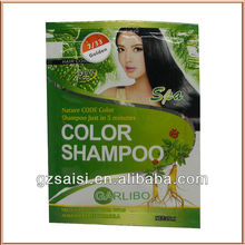 new top!!!25ml natural code hair color shampoo without ammonia