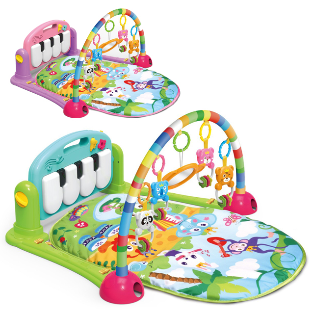 2019 Wholesale activity baby gym mats toys piano baby play mat for kids