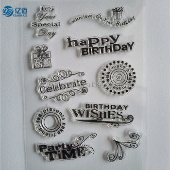 Custom Made Clear Rubber Stamps for DIY Scrapbook Card Making Crafts