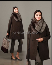 Today's trend Silver Fox Fur Collar For High End Coat Garment Shawl Neck Scarf