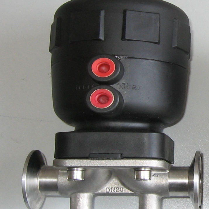 China made ss304 sanitary food grade pneumatic diaphragm operated valve