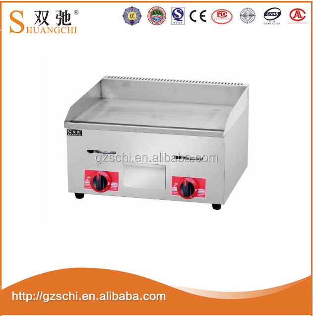 CE barbecue Cooking Equipment Gas Griddle With Gas Fryer Grill Cabinet