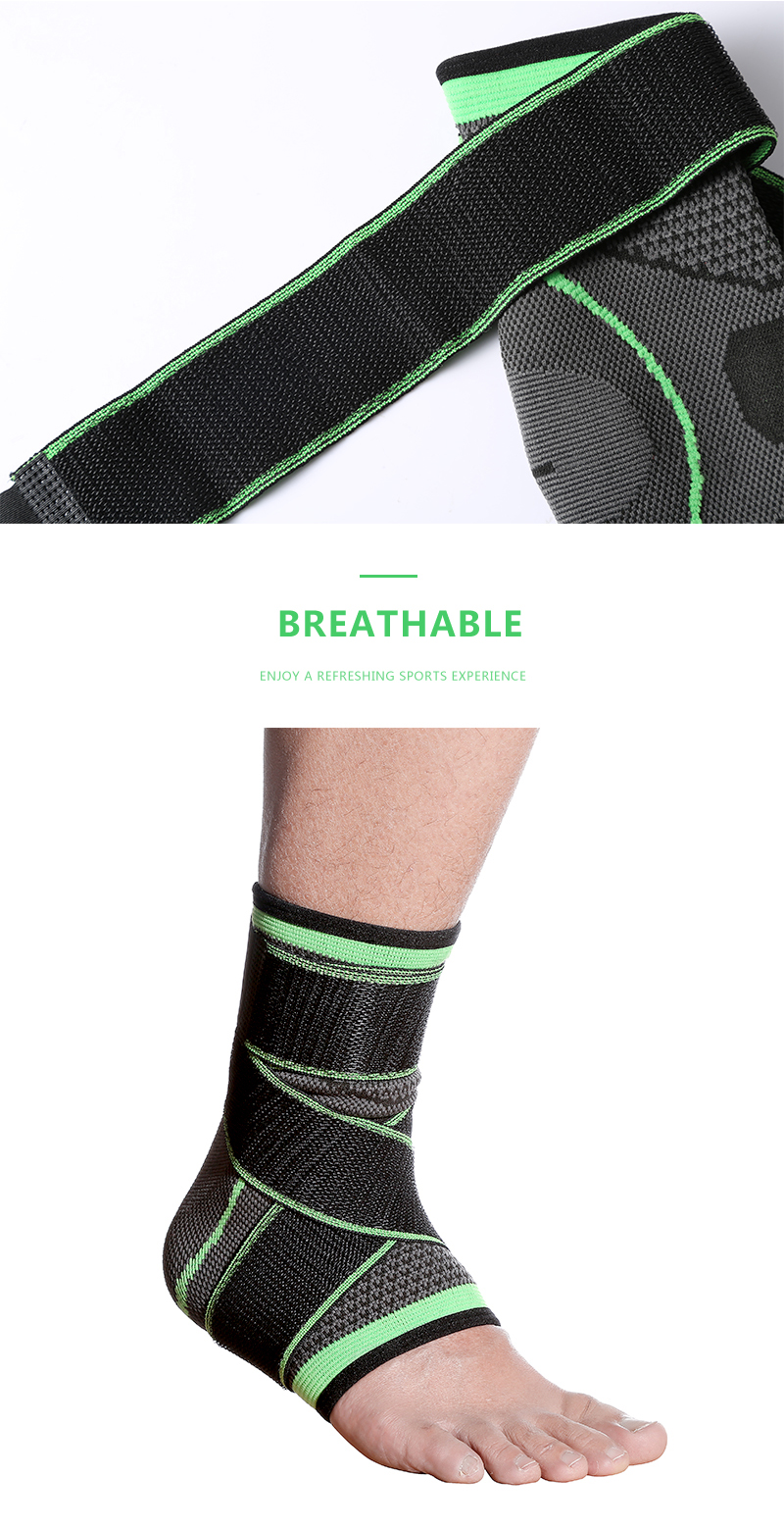 Hot Sale Men Women Nylon Ankle Support Running Breathable Bandage Ankle Brace Compression Adjustable Ankle Support Guard