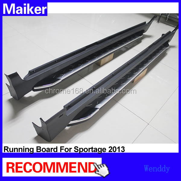 Aluminium alloy Running board for Kia Sportage 2013 Side step bar running board 4x4 accessories