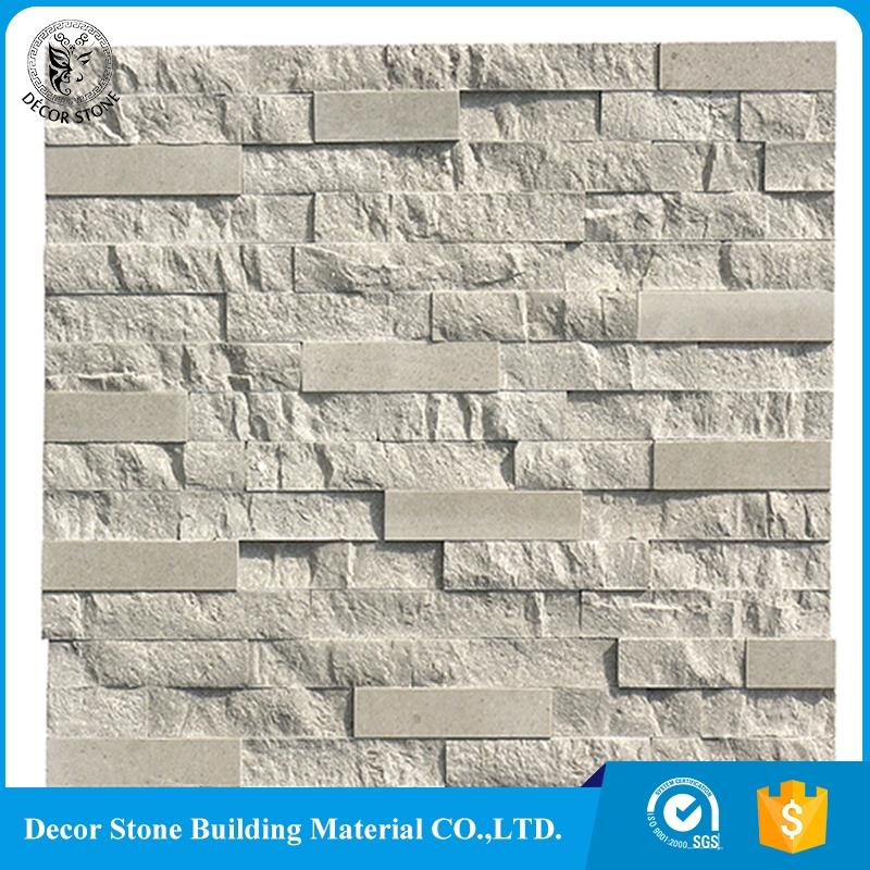 Made of natural marble stones for covering facades stacked stone panel