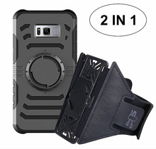 2 in 1 Shock proof Magnet Car Holder Phone Covers for Samsung Galaxy Note 8 Case with Arm band