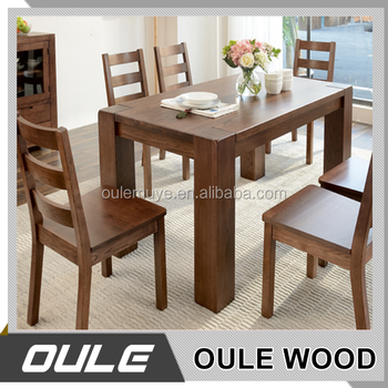 High quality simple style modern solid wood dining table for Quality wood dining tables